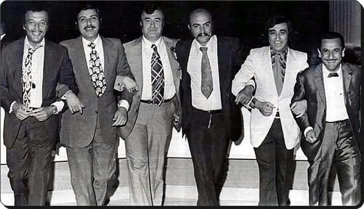 Sadri Alışık, Orhan Boran, Celal Şahin, Öztürk Serengil, Müjdat Gezen, Feridun Karakaya (70'ler)