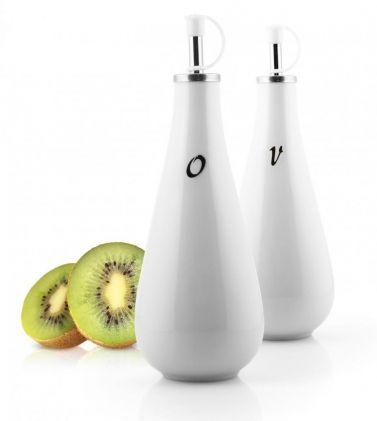 Komplet 2 pojemników porcelanowych na oliwę i ocet VIALLI DESIGN VILAGIO