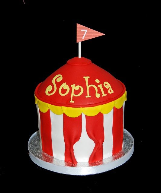 7th birthday circus cupcake tower by Simply Sweets, via Flickr