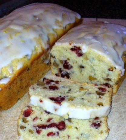 Betsy s Lemon-Cranberry Bread from Food.com:   A lemony loaf of bread with the extra zip of dried cranberries.