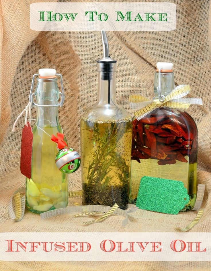 How to Make Infused Olive Oil - makes a creative & unique gift for the Holidays!