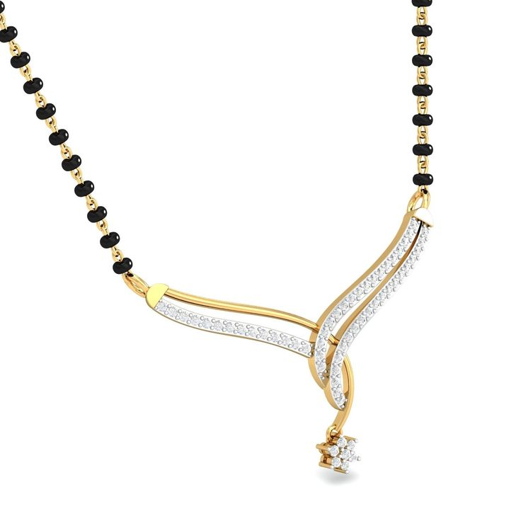 """,This tanmaniya exemplifies """"keeping it simple"""" way too perfectly. One of the most delicate looking mangalsutras that we have, this one manages to charm just about everybody. ,Gold Mangalsutra/Tanmaniya for Women. Customize With Your Choice of Diamond & Gold. Shop Online on KuberBox.com"""