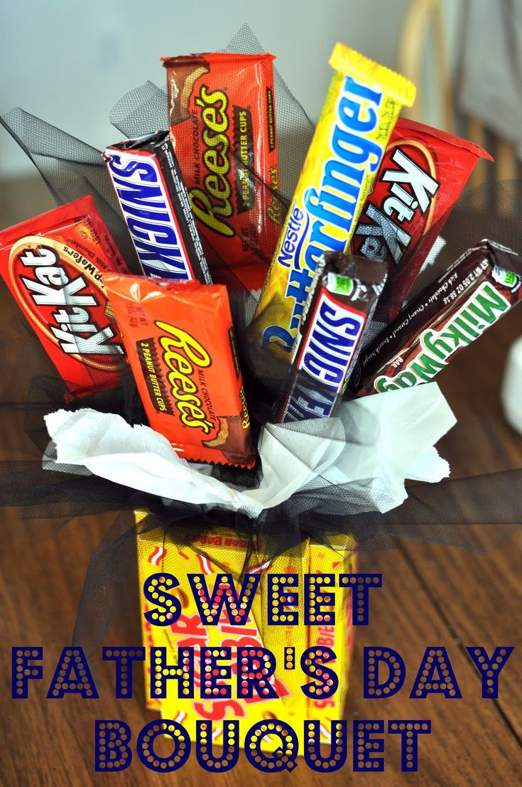 Love this for lots of gift giving occasions..: Candybar, Sweet, Gifts Ideas, Father Day, Gift Ideas, Candy Bar, Father'S Day, Fathers Day, Candy Bouquets