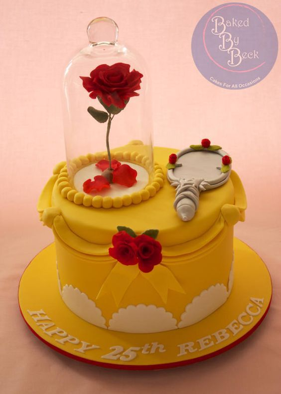 Beauty and the Beast - Cake by Baked By Beck
