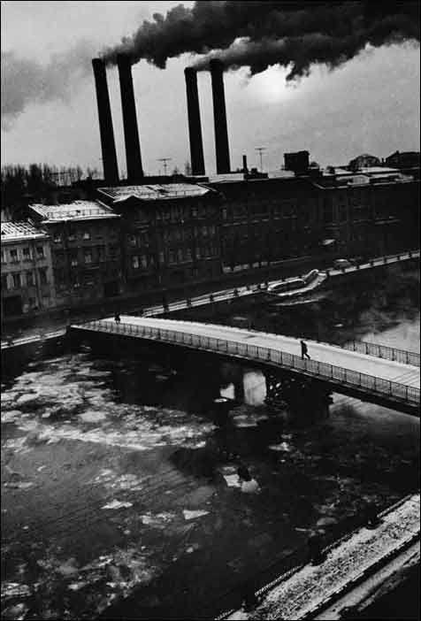 Смелов Борис  Фонтанка зимой 1987 г.