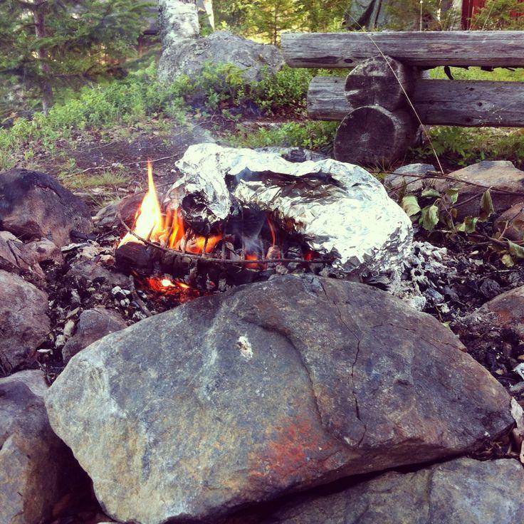 Fisk på eld.