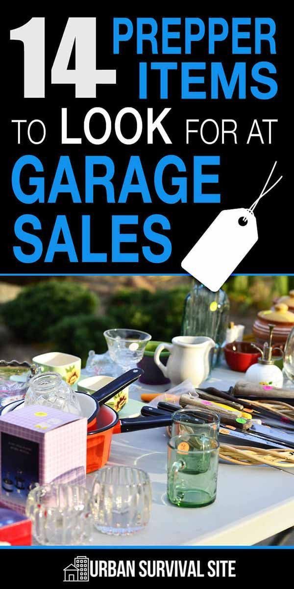 14 Prepper Items To Look For At Garage Sales Prepper Supplies