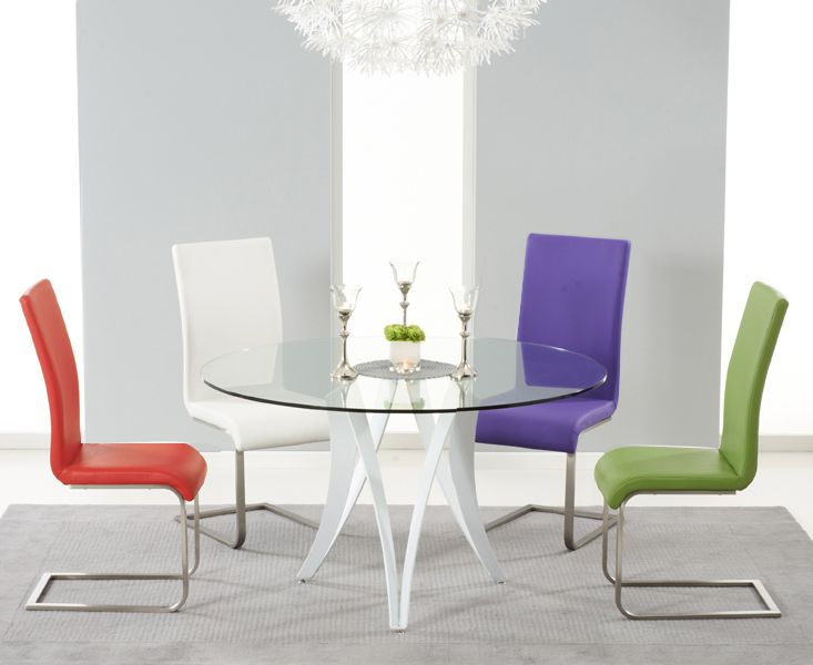 Best 25 Glass round dining table ideas on Pinterest Glass