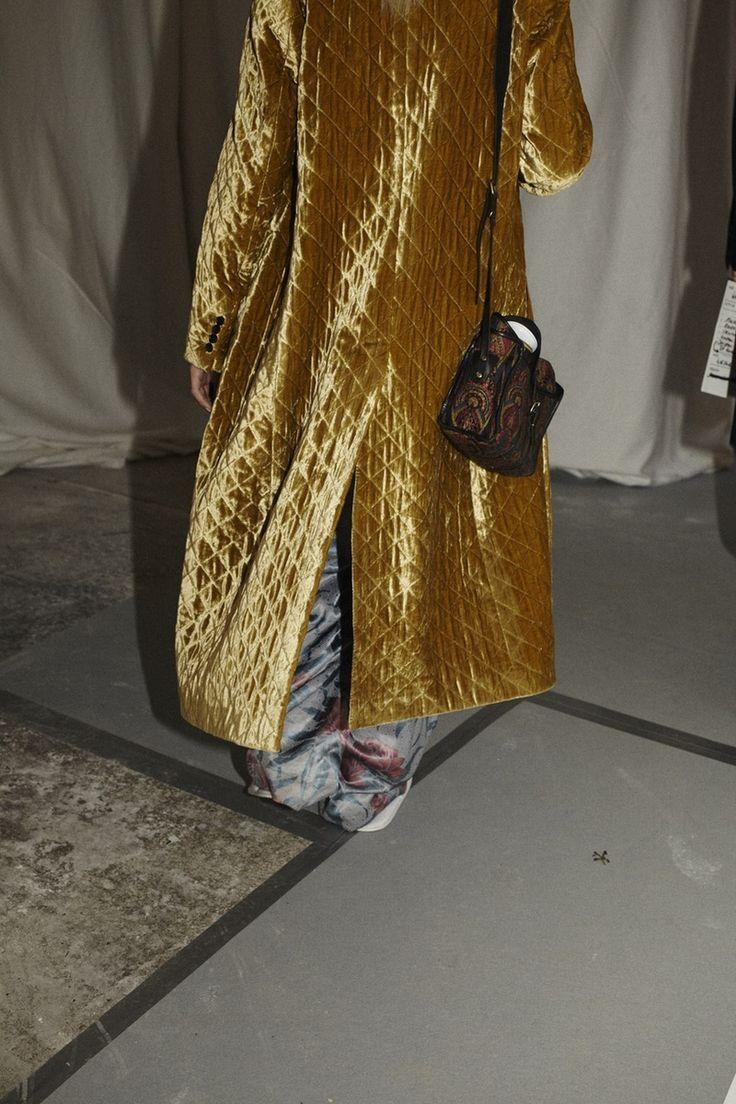 Velvet & mustard coat. @thecoveteur