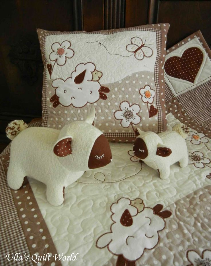 Ulla's Quilt World: Sheep quilts - baby blanket and pillowcase