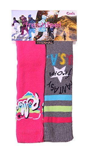 From 2.89 Imtd Boys Girls Kids 2pairs Winter Warm Socks Outdoor Durable Long Snow Wellington Boot Ski Socks Fantasy Design Shoe Size 9-12
