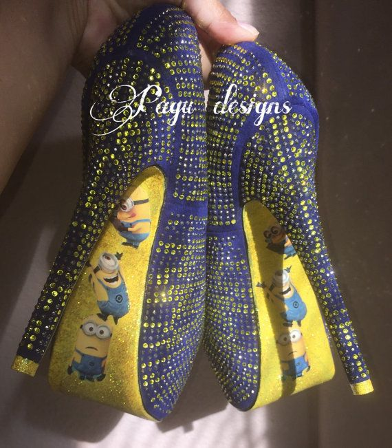 Minions shoes high heel party by pagudesign10 on Etsy