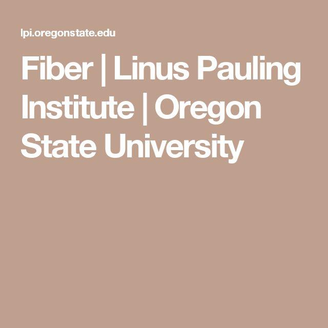 Fiber | Linus Pauling Institute | Oregon State University