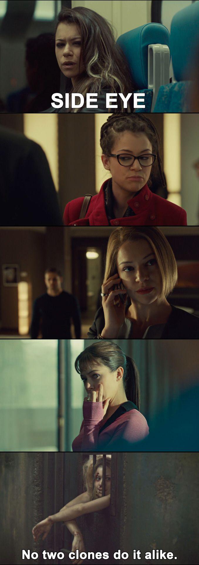 Orphan Black - Sarah, Cosima, Rachel, Alison,   Helena<< More proof of why Tatiana Maslany is amazing!
