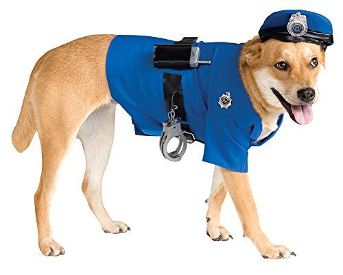 Halloween Costumes Item  Cat  Dog Costume Police Officer Medium * Visit the image link more details.