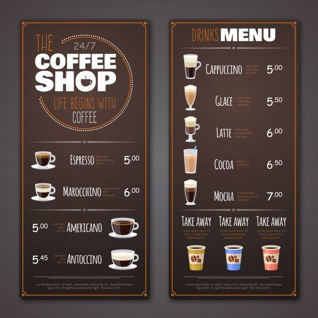 Shablon Menyu Kafe Coffee Menu Design Coffee Shop Menu Coffee Shop Menu Board