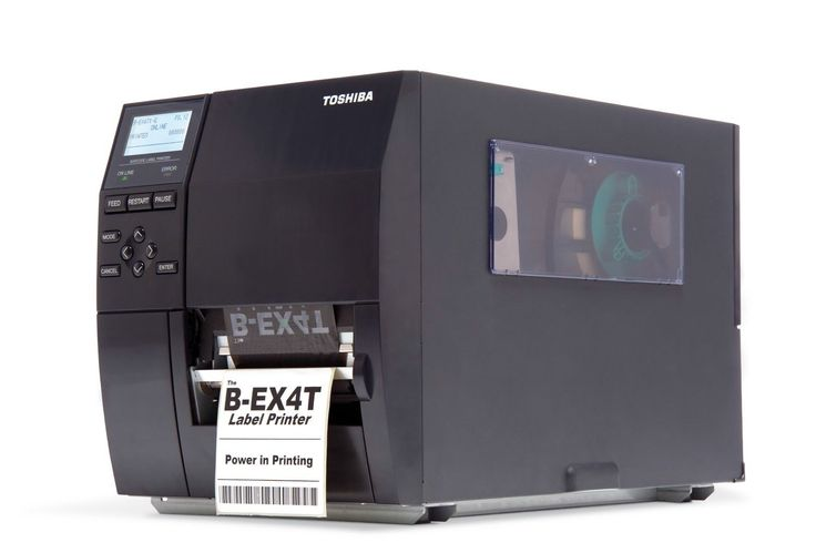 Thermal transfer printers utilize a thermal print head which is pressed onto a ribbon which then melts ink into the label material. Then, the ink actually absorbs into the label material and is set permanently. So, the thermal transfer printing process and the resulting labels have more longevity and durability.