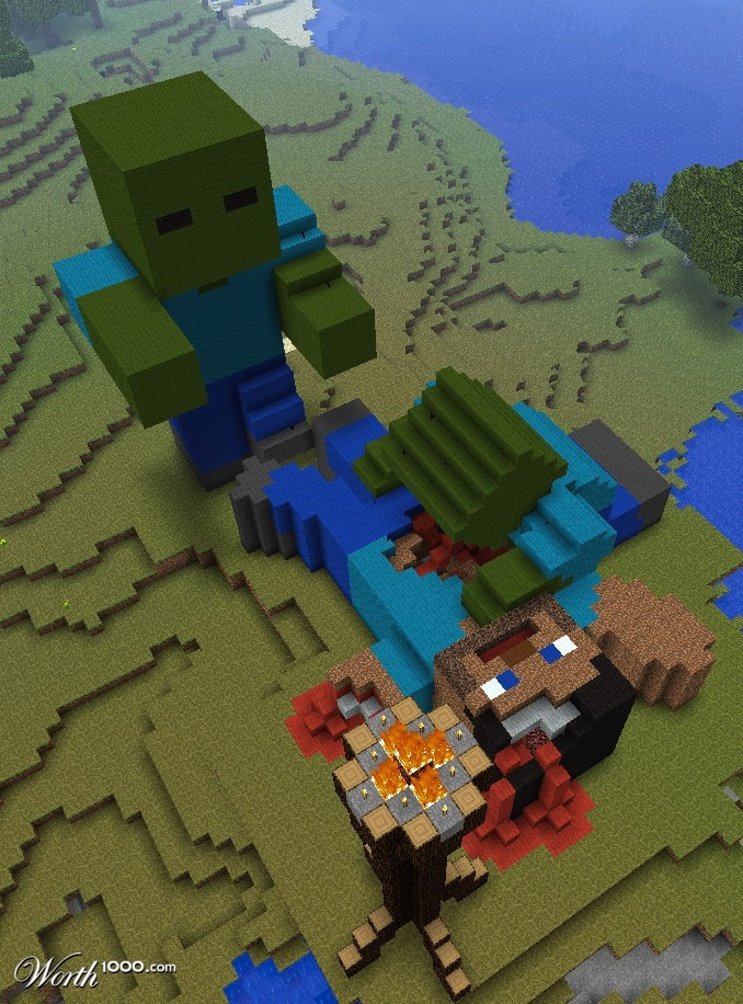 A Minecraft nightmare come true!