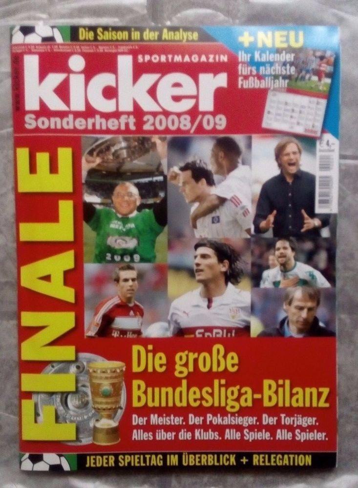 "Kicker!Sportmagazin!Die Bundesliga Bilanz! "" Sonderheft  2008 / 09 "" ! NEU !'"