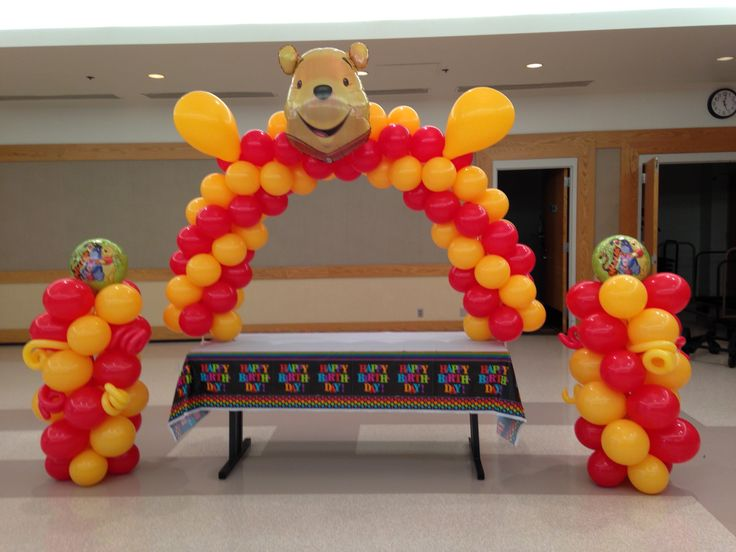 Winnie The Pooh arch and columns