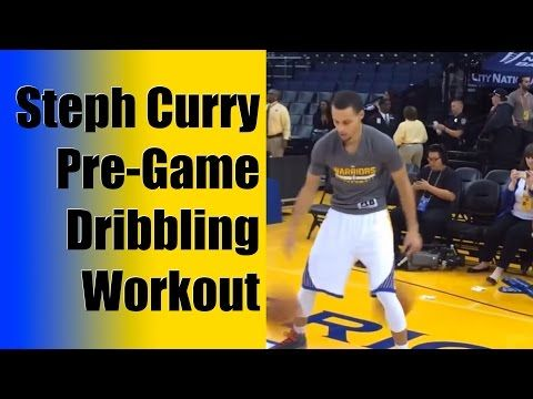 Stephen Curry Pregame Dribbling Workout - Ball Handling Drills - Ankle Breaking Handles - YouTube