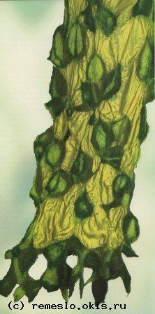 Войлоковаляние. Войлочные шарфы. Войлок валяние войлока .Изделия из войлока…