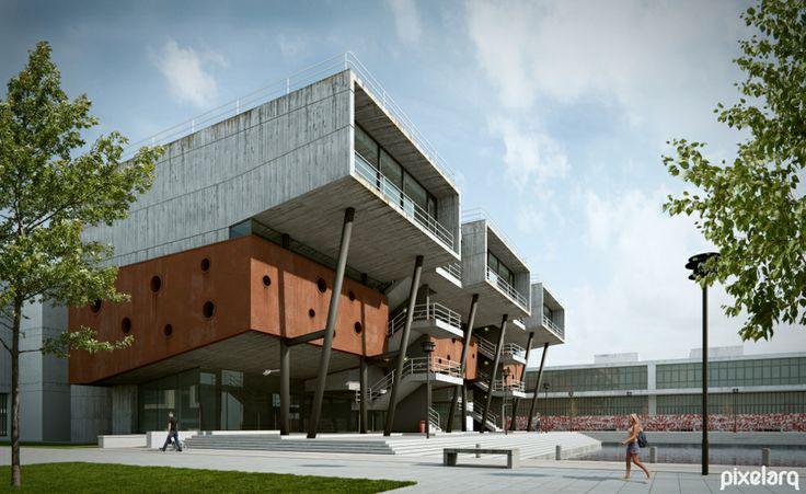 Ludovico Centre - Based in Brunel University #Architecture #Rendering #3d #Blender3d #Render