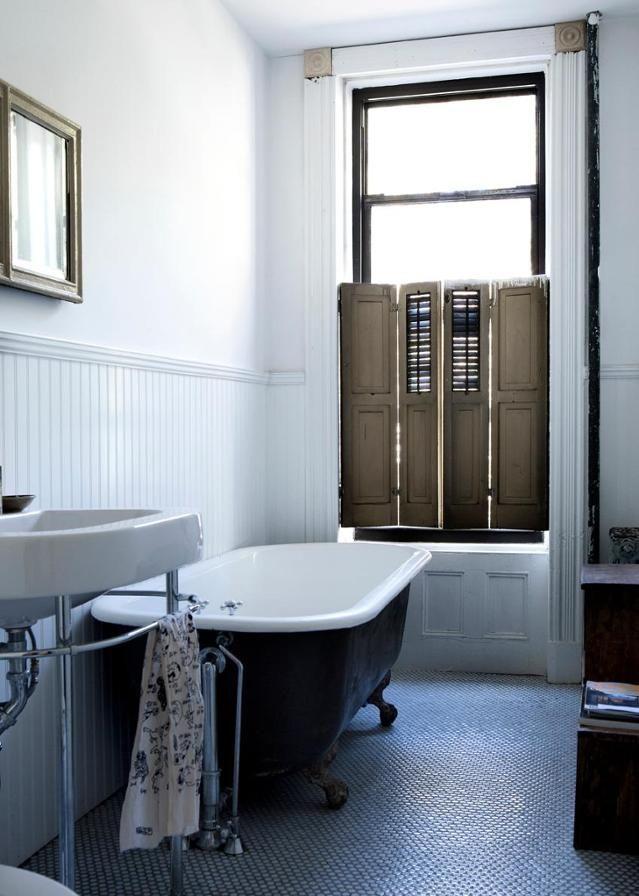 Luxury freistehende oldstyle Badewanne bad badewanne badezimmer fensterladen badezimmerspiegel handtuchhalter