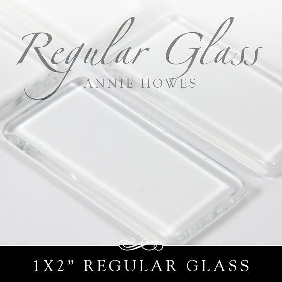 1x2 In  48x24  clear rectangle glass tiles. Regular by AnnieHowes