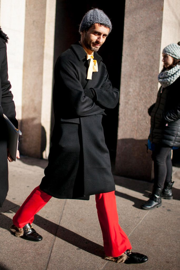 Gucci Fur Loafers Seen At Milan Men's Fashion
