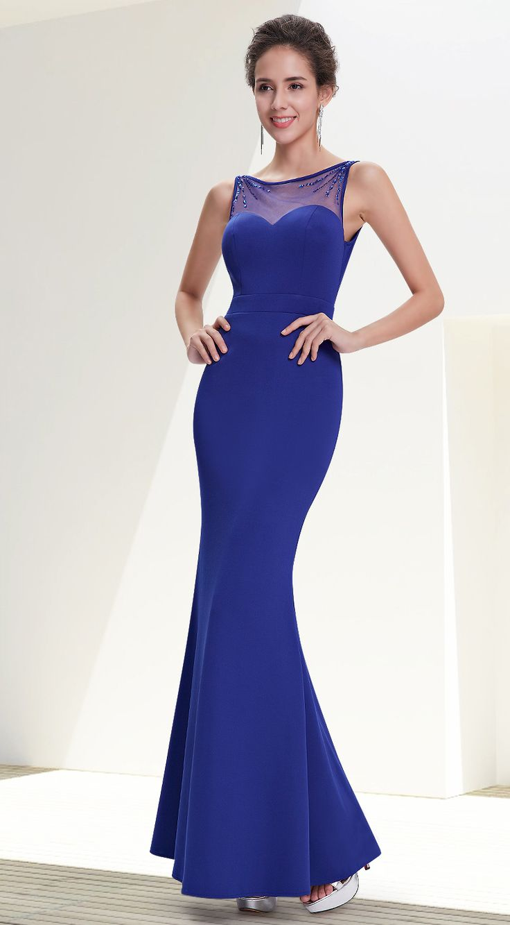 Ever-Pretty royal blue long party dress #everpretty #partydress