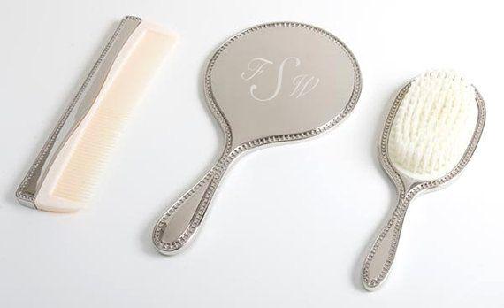 3 PC Children's Vanity Set - Little Girls Mini Brush, Mirror and Comb