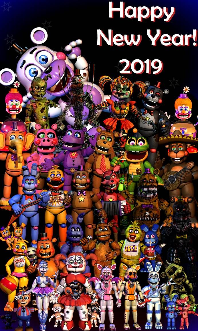 Happy New Year!2019 [FNaF Blender] by ChuizaProductions
