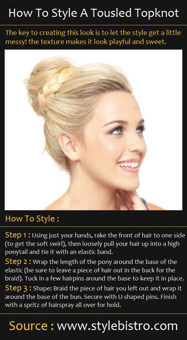 Beauty Tutorials: A Tousled Topknot Hair Tutorial