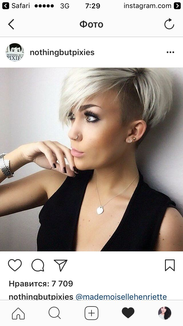 No side shave here EVER! But wow, does this girl rock this pixie! I think a similar look can be achieved without the side/undershave?