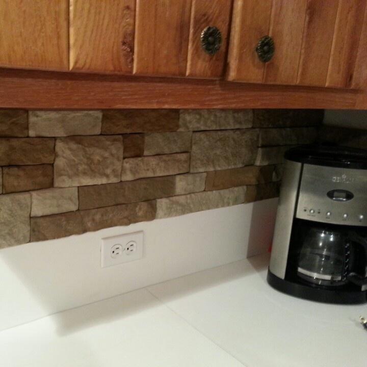Lowes Air Stone Backsplash: Great Inexpensive Change Airstone