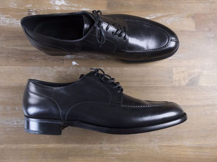 Authentic Ermenegildo Zegna Couture Goodyear-welted black split-toe shoes - Size 12 US / 11 UK / 45 EU - New in Box. Comes in original box with dustbags, spare shoe laces and metal Zegna shoe horn.   eBay!