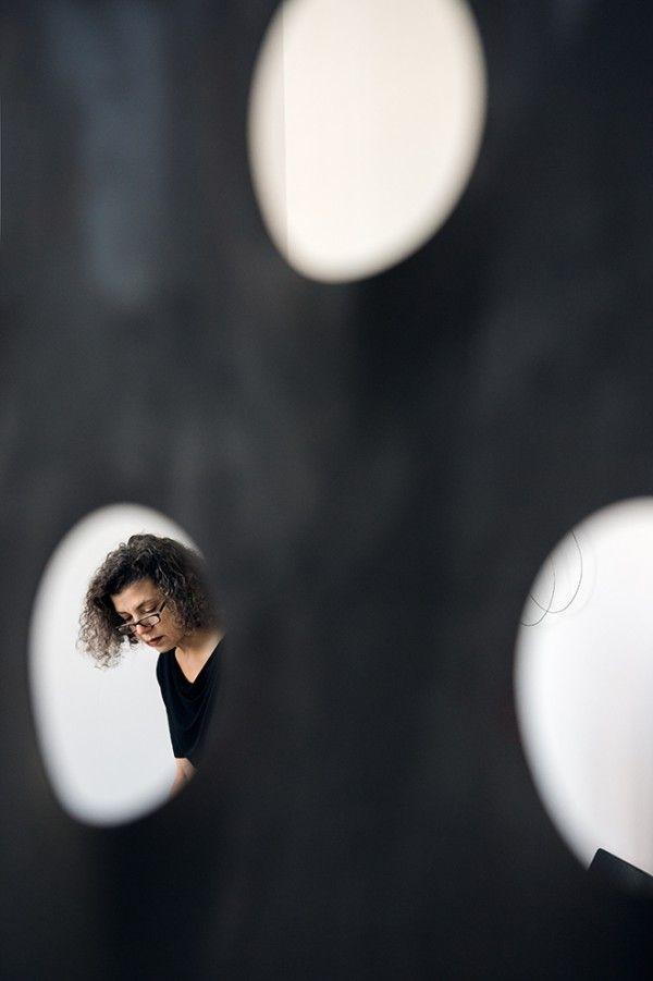 Mona Hatoum au Centre Pompidou. © Photo Andri Pol, 2013