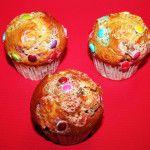 "Muffin ""Vainilla de colores"" Vainilla con grajea suiza"
