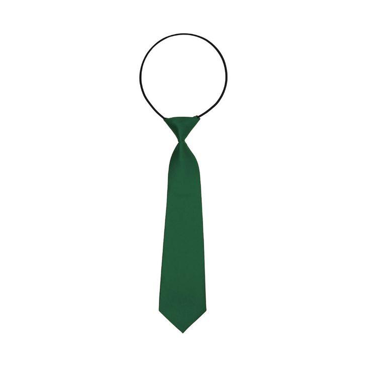 Kinder Krawatte Schlips gebunden dehnbar - grün in Bekleidung Accessoire  • Krawatten • Kinder