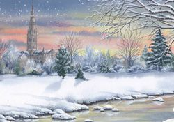 Salisbury Cathedral : Jacqui Lawson card