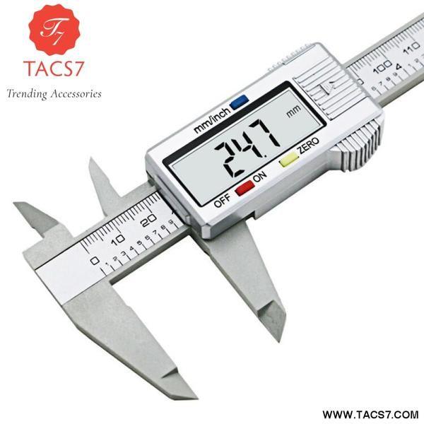 "6/"" 150mm Carbin Fiber Electronic Digital Vernier Caliper Micrometer Guage LCD"