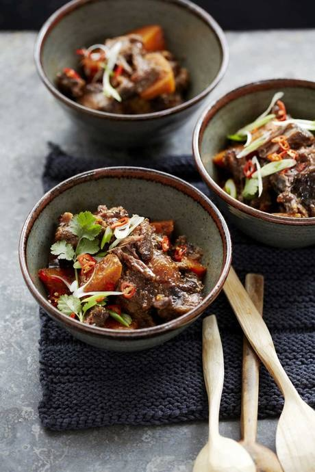 Oxtail and sweet-potato stew