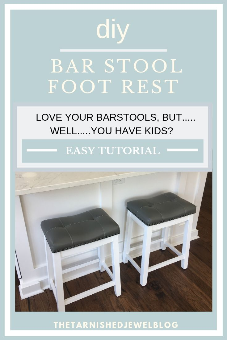 Diy Bar Stool Metal Foot Rest Tutorial Hack Diy Bar Stools Diy Bar Bar Chairs Diy