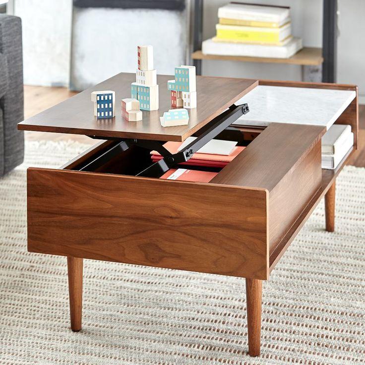 Industrial Storage Pop-Up Coffee Table