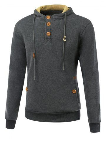 GET $50 NOW | Join RoseGal: Get YOUR $50 NOW!http://m.rosegal.com/mens-hoodies-sweatshirts/elbow-patch-long-sleeve-drawstring-712478.html?seid=6798909rg712478