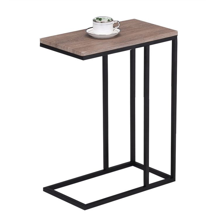Reclaimed Wood Look Finish Black Metal Snack Table | Overstock.com Shopping    The Best