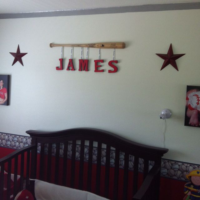 Baseball Bat Name Sign Charles Conway If That Baby Ever Gets Here