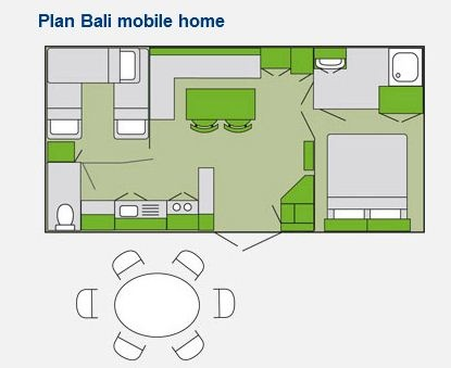 Bali Mobile Home Layout