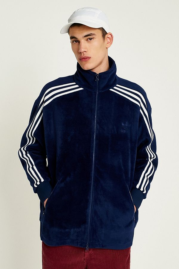 on sale 7c180 cee22 Slide View 1 adidas Originals BB Navy Velour Track Top